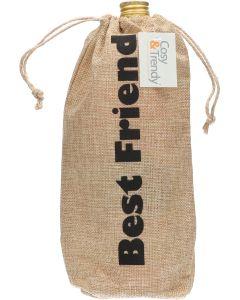 Cosy & Trendy Jute Cadeauzak Best Friend