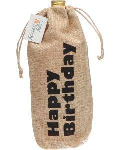 Cosy & Trendy Jute Cadeauzak Happy Birthday