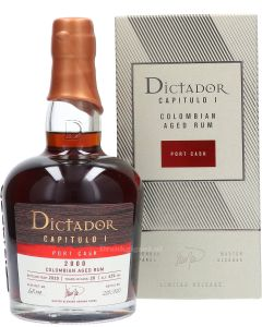 Dictador Capitulo I Colombian Port Cask 20 Year 2000