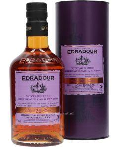 Edradour 21 Year Vintage 1999 Bordeaux Cask Finish
