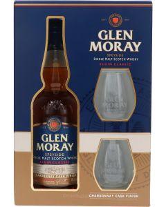 Glen Moray Chardonnay Cask + 2 Glazen