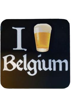 I Beer Belgium Biervilt Zwart