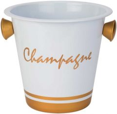 Ice Bucket White & Gold
