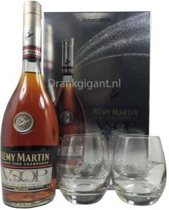 Rémy Martin geschenkbox + 2 glazen