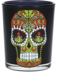 Shotglas Green Skull