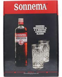 Sonnema Berenburg + 2 Longdrink Glazen