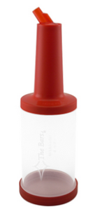 The Bars Save & Pour Cocktail Bottle Red