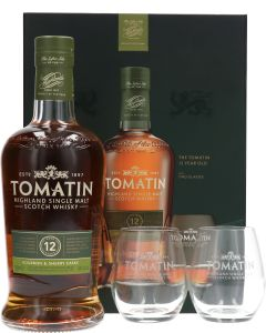 Tomatin 12 Years Bourbon & Sherry Casks Giftpack