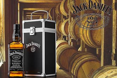 Bekijk De Jack Daniels Old No7 Met Flight Case Op